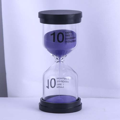 10 Min Purple Sand Happy Time Sandglass