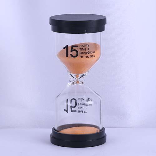 15 Min Orange Sand Happy Time Sandglass