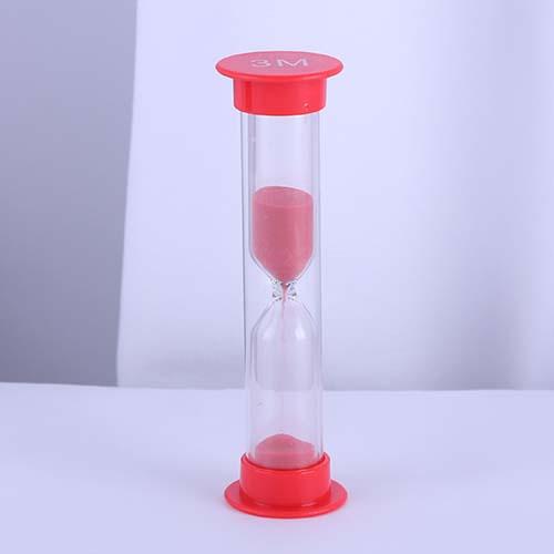 3 Minute Red Mini Plastic Sand Timer