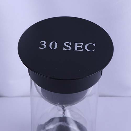 30 Sec Black Round Cap