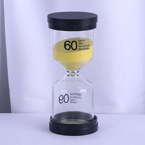 60 Min Yellow Sand Happy Time Sandglass