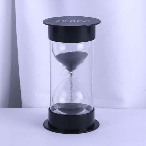Black Round Cap Educational Hourglass