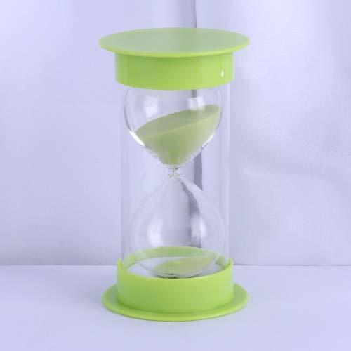 Grass Green Round Cap Educational Hourglass