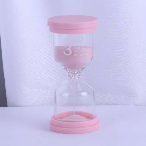 Macaron Pink Happy Time Sandglass Small size