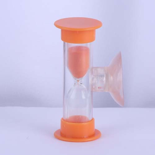 Orange Plastic Shower Sand Timer