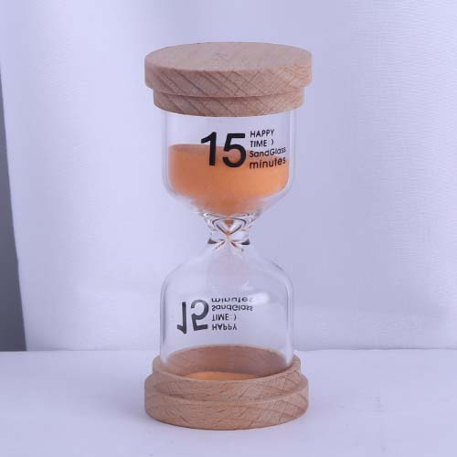 Orange Wood Cap Happy Time Sandglass