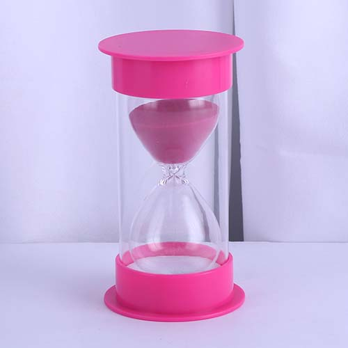 Pink Round Cap Educational Hourglass