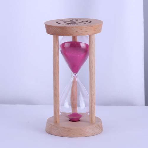 Pink Round Wood Tea Sand Timer