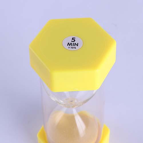 Plastic Hexagon Sand Timer Mini Cap