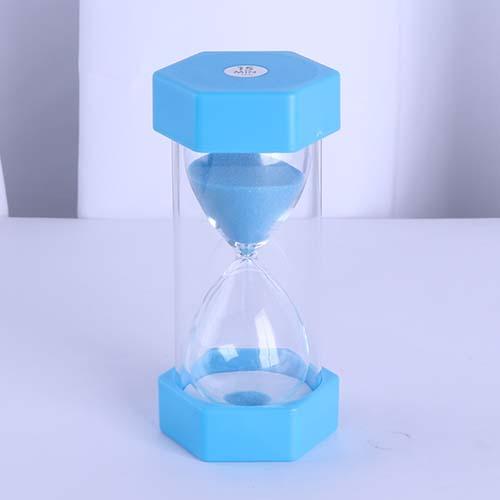Plastic Hexagon Sand Timer Mini Light Blue