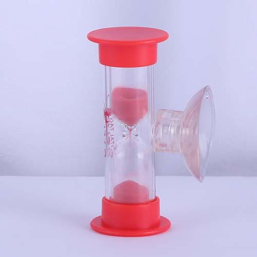 Red Plastic Shower Sand Timer