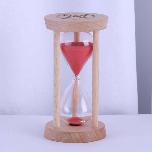Red Round Wood Tea Sand Timer