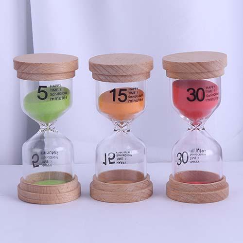 Wood Cap Happy Time Sandglass Feature Image